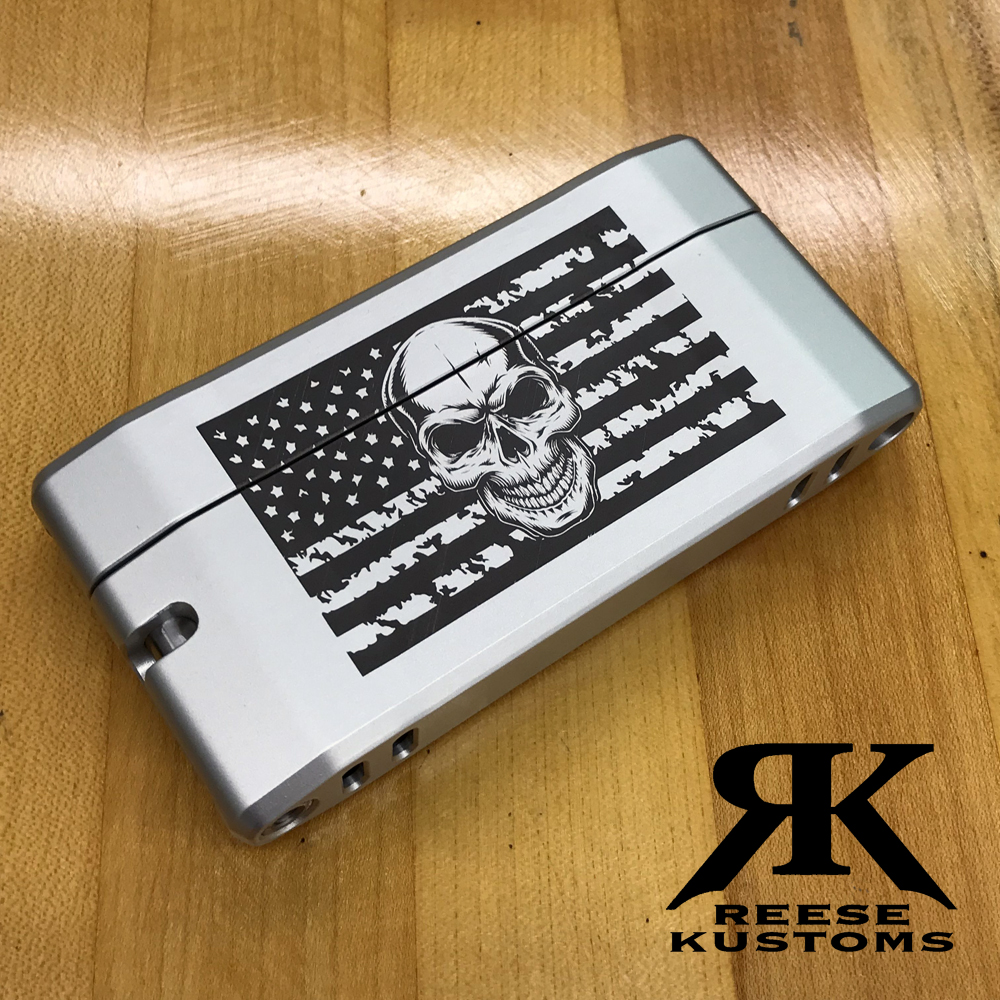 Reese Kustoms Skull Flag